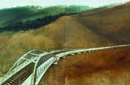 -22 2010 tecnica mista su tavola 100x200 cm