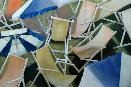 Conciliabolo 2009 tecnica mista su tavola trittico 200x240 cm