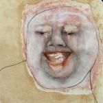 Gola 2012 tecnica mista su carta 19x17 cm