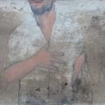 Lui 2013 tecnica mista su tavola 27x48 cm