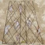 Purgatorio 2012 tecnica mista su carta 50x50 cm