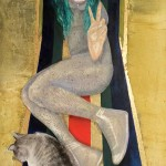Sempreverde 2013 tecnica mista su tavola 140x80 cm