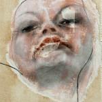 Superbia 2012 tecnica mista su carta 18x13 cm